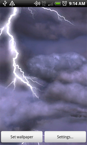 thunderstorm wallpaper. Android Live-Wallpapers |