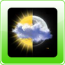 Animated Weather Widget, Clock