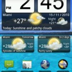 Animated Weather Widget, Clock Android