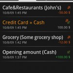 Financisto Android App