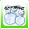 Snowstorm weather widget