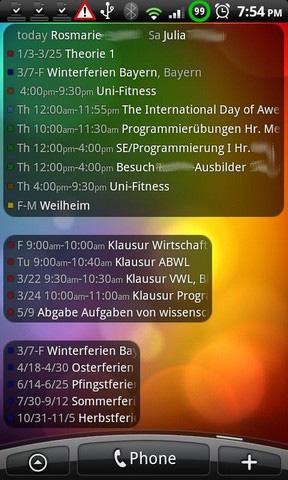 Antons Kalender Widget