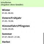 Ferien & Feiertage Android App