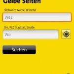 Gelbe Seiten Android App
