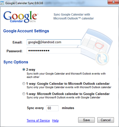 Google Calendar Sync Android Outlook