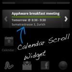 Kalender Scroll Widget Agenda