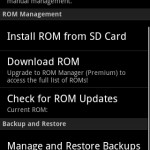 ROM Manager Android App