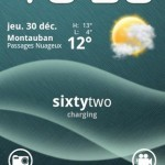 Text Battery Widget Android App