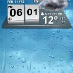 3D Digital Weather Clock Android Widget