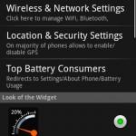 Gauge Battery Widget Android App