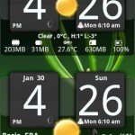 Sense Analog Clock Widget Dark