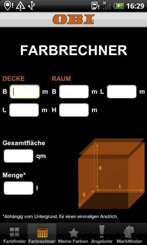 obi farbfinder 24android. Black Bedroom Furniture Sets. Home Design Ideas