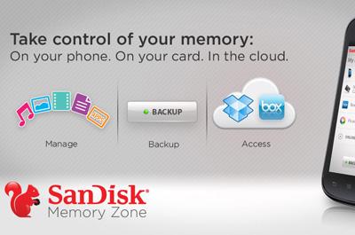 SanDisk Memory Zone Teaser