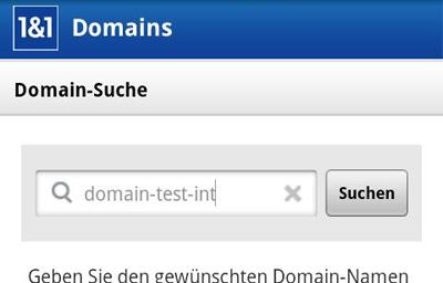 1&1 Domains Teaser