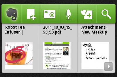 Evernote Widget Teaser