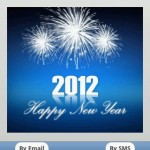 New year 2012 Greeting cards