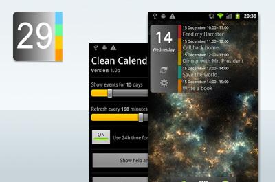 Clean Calendar Widget Teaser