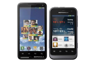 Motorola Defy Mini u. Motoluxe Teaser