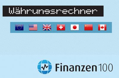 Finanzen100 Währungsrechner Teaser