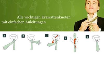 krawatten binden diese app zeigt wie es geht 24android. Black Bedroom Furniture Sets. Home Design Ideas