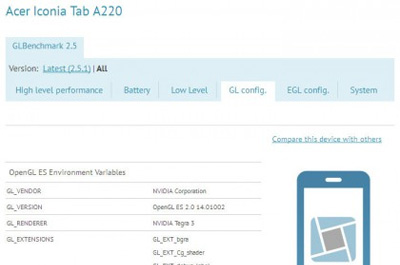 Acer Iconia Tab A220 Teaser