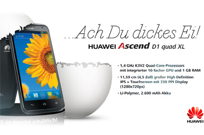 Huawei Ascend D1 quad XL Teaser