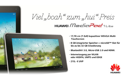 Huawei MediaPad 7 Lite Teaser