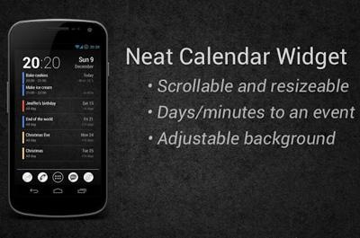Neat Calendar Widget Teaser