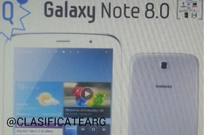 Samsung Galaxy Note 8.0 Teaser