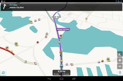 Waze soziales GPS und Verkehr
