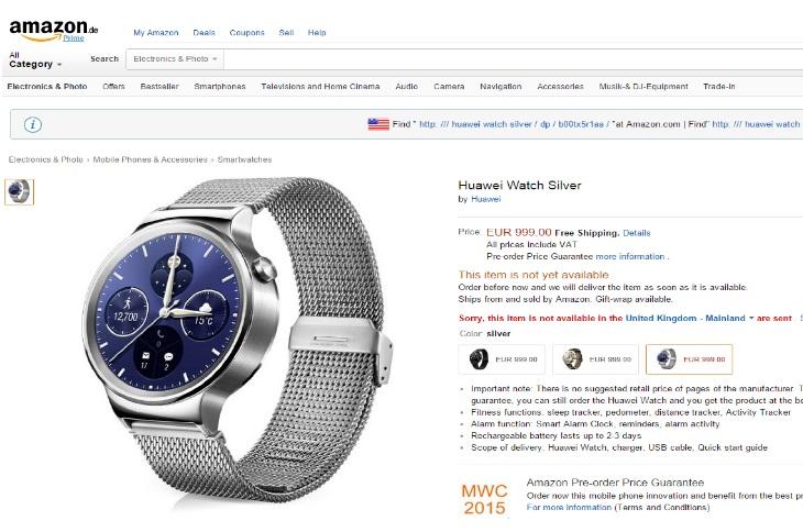 Huawei Watch Amazon