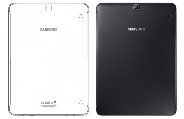 Links SM-T819 // Rechts Samsung Galaxy Tab S2
