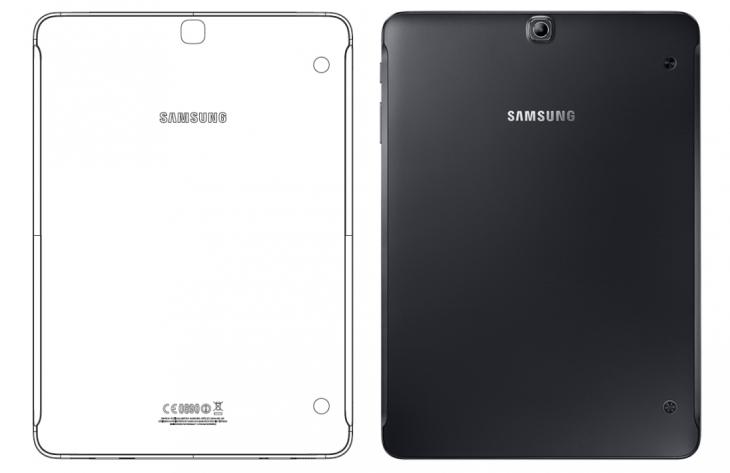 Links SM-T819 // Rechts Samsung Galaxy Tab S2