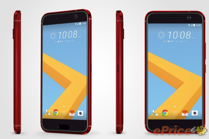 HTC_10_Red_Side_Front