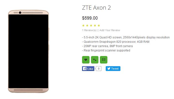 ZTE_Axon_2_Price