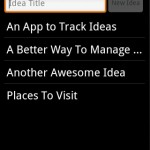 Idea Pad: Idea Notepad Android App