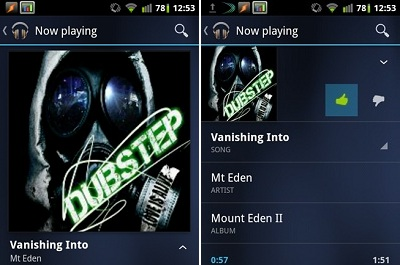 Musik Player - Android Ice Cream Sandwich