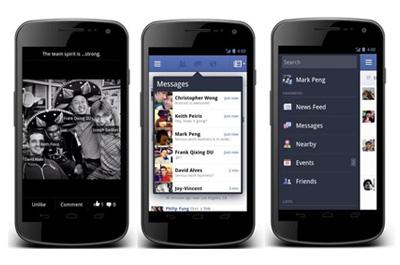Facebook für Android Teaser