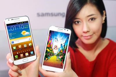 Samsung Galaxy S 2 HD LTE weiß Teaser